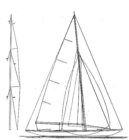 30 qm Schärenkreuzer Segelplan