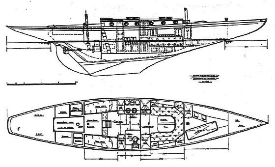 80 qm Seefahrtskreuzer Bauplan
