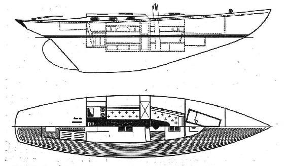 100 qm Seefahrtskreuzer Einrichtungsplan