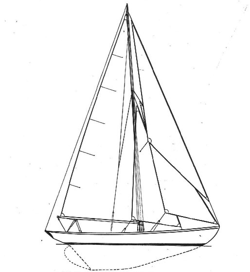 100 qm Seefahrtskreuzer Segelplan