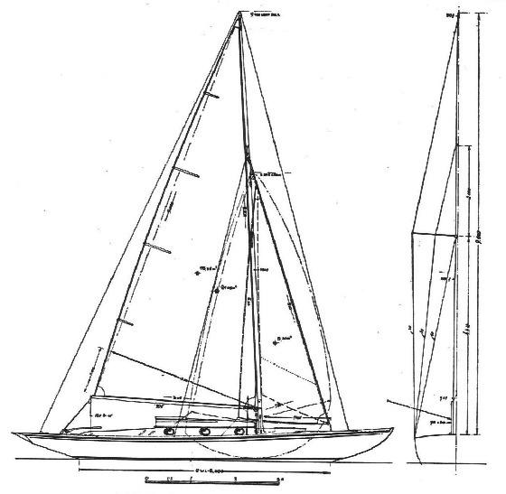 20 qm Küstenkreuzer Segelplan
